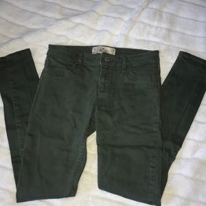 Dark Army Green Jeans